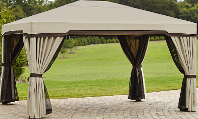 Garden Oasis 10 Ft. x 12 Ft. Privacy Gazebo