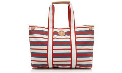 Tory Burch Printed Canvas Tote Handbag