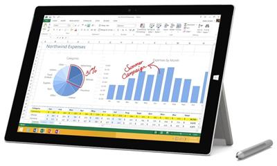 Microsoft Surface Pro 3 Tablet (PS2-00001)