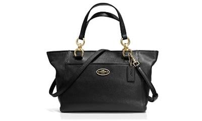 Coach Mini Ellis Pebbled Leather Tote Handbag