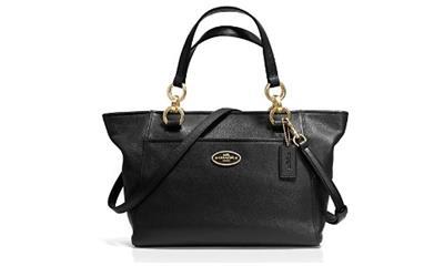 Coach Mini Ellis Pebbled Leather Tote Handbag