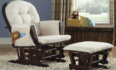 Stork Craft Hoop Glider and Ottoman Set (06550-414)