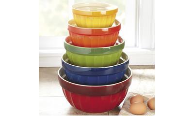 CHEFS 5-Piece Stoneware Mixing Bowl Set
