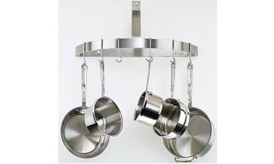 Cuisinart CRHC-22B Chef's Classic Half-Circle Wall-Mount Pot Rack