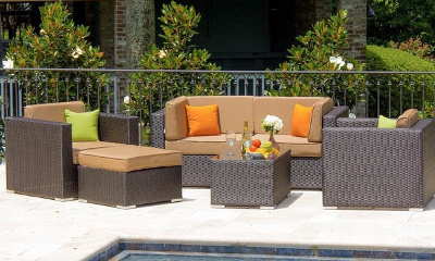 Lakeview Outdoor Designs Avery Island 4-Person Resin Wicker Patio Sectional Seating Set