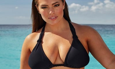 Ashley Graham x swimsuitsforall Double-Cross Black Bikini