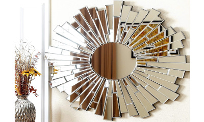 ABBYSON LIVING Empire Burst Round Wall Mirror