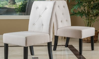 Christopher Knight Home Taylor Natural Fabric Dining Chair