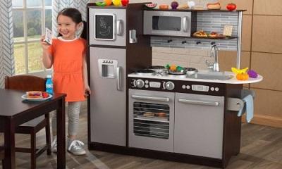 Kidkraft Uptown Espresso Wooden Play Kitchen 115 28 Off