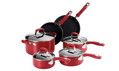Guy Fieri 10-Piece Nonstick Cookware Set