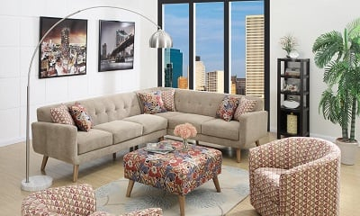 Emerald Home U4291-05-K Boho 2 Piece Sectional