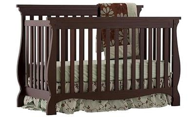 Stork Craft Carrara 4-in-1 Fixed Side Convertible Crib