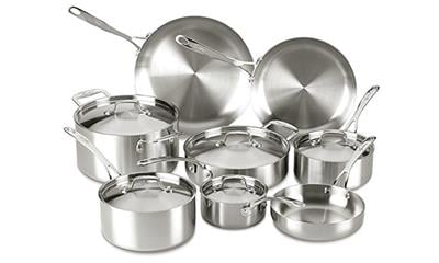Lagostina Q555SD Axia Tri-Ply 13-Piece Stainless Steel Cookware Set