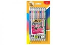 BIC Pencil Xtra Sparkle (24-Count)