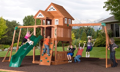 Leisure Time Products Worthington Cedar Playset