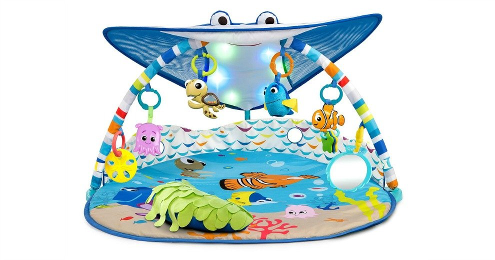 Disney Baby Finding Nemo Mr Ray Ocean Lights Activity Gym