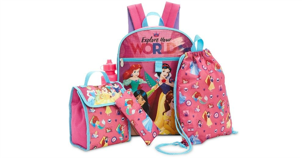 b4b7c7ea623 Disney Princesses 5-Pc. Backpack   Accessories Set  12.99 (62% off)   Macy s