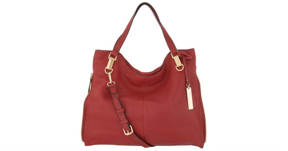 a0acd5aa9589 Vince Camuto Lamb Leather Tote Handbag Eliza $199.95 (28% off) @ QVC