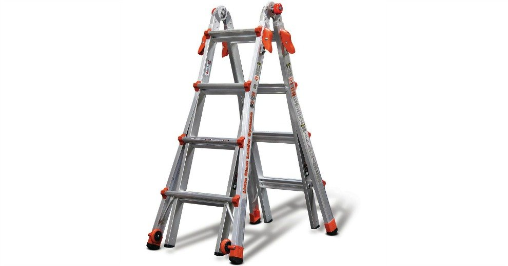 Little Giant 17ft Multi Use Ladder With Ladder Rack 179