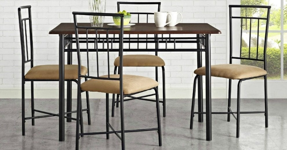 Mainstays 5 Piece Dining Set 119 20 Off At Walmart