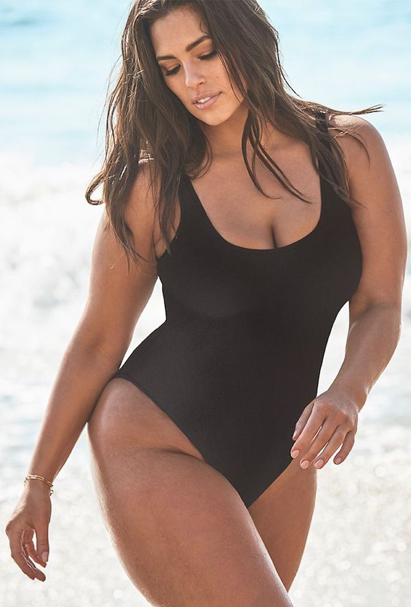 8921939f2a140 Ashley Graham x Swimsuits For All Hotshot Black One Piece Swimsuit ...