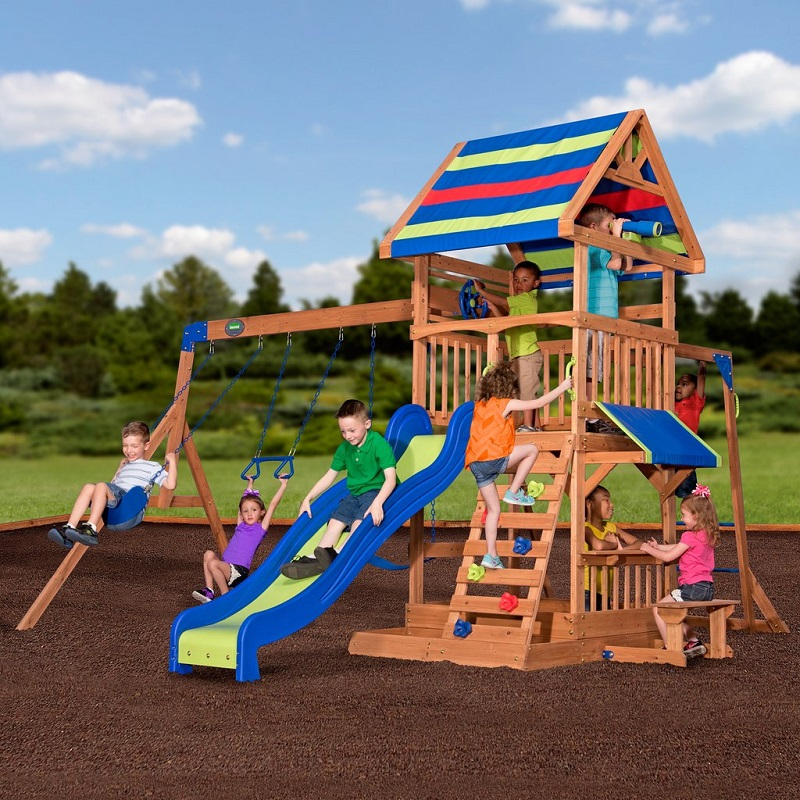 Backyard Discovery Beach Front Wooden Cedar Swing Set 469 11 Off