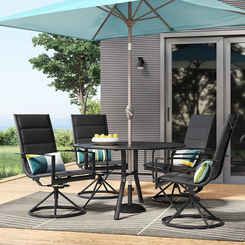 Peachy Project 62 Avalon 5Pc Sling Steel Patio Dining Set 428 39 Customarchery Wood Chair Design Ideas Customarcherynet
