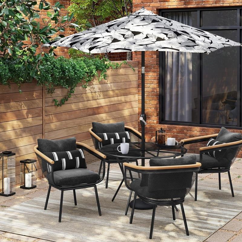 Fabulous Project 62 Bangor 5Pc Round Patio Dining Set 512 97 28 Customarchery Wood Chair Design Ideas Customarcherynet