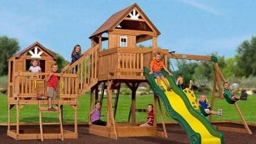 Backyard Discovery Tucson Cedar Wooden Swing Set 399 20
