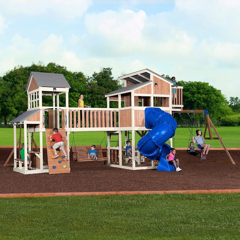 Backyard Discovery Skyline Retreat Cedar Swing Set Playset 2499