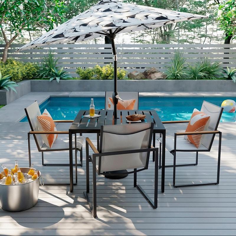 Enjoyable Project 62 Henning 5Pc Patio Dining Set 708 04 28 Off Customarchery Wood Chair Design Ideas Customarcherynet