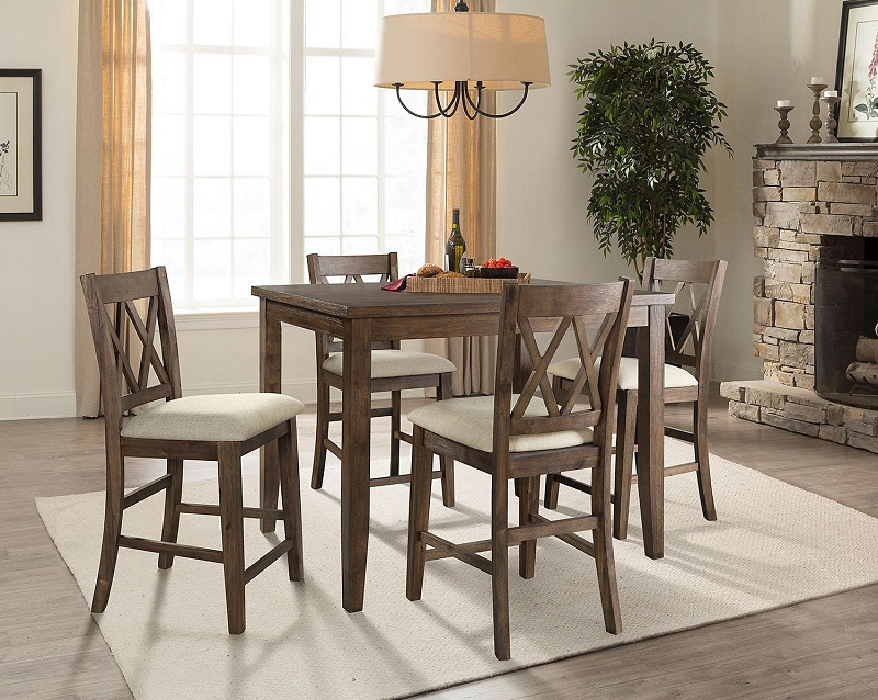home meridian oliver 5pc counterheight dining set 269