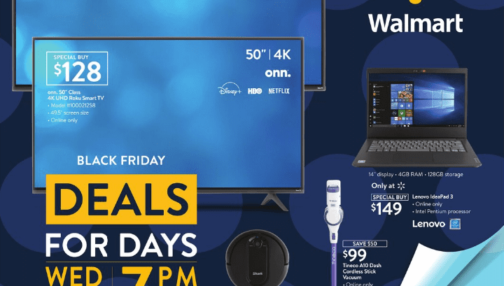 Walmart 2020 Black Friday Deals for Days Ad (11/11-11/15) Page 1