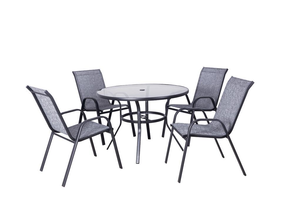 Backyard Creations Fenton Gray 5-Piece Dining Patio Set