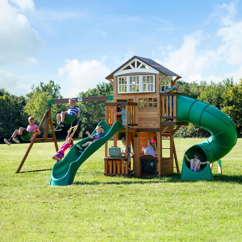 Backyard Discovery Bristol Point Cedar Swing Set