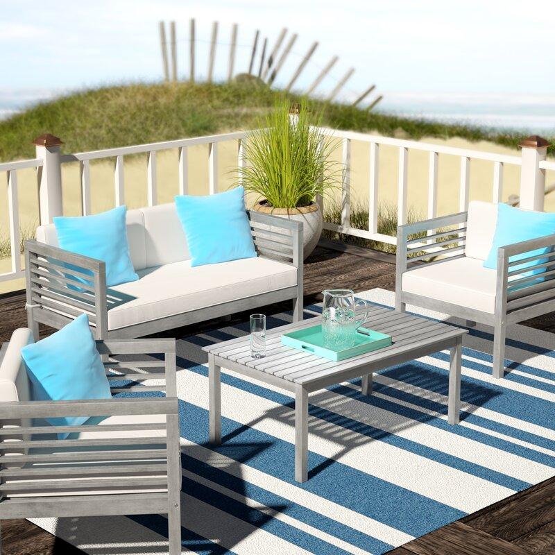 Beachcrest Home Daytona 4 Piece Sofa Seating Group