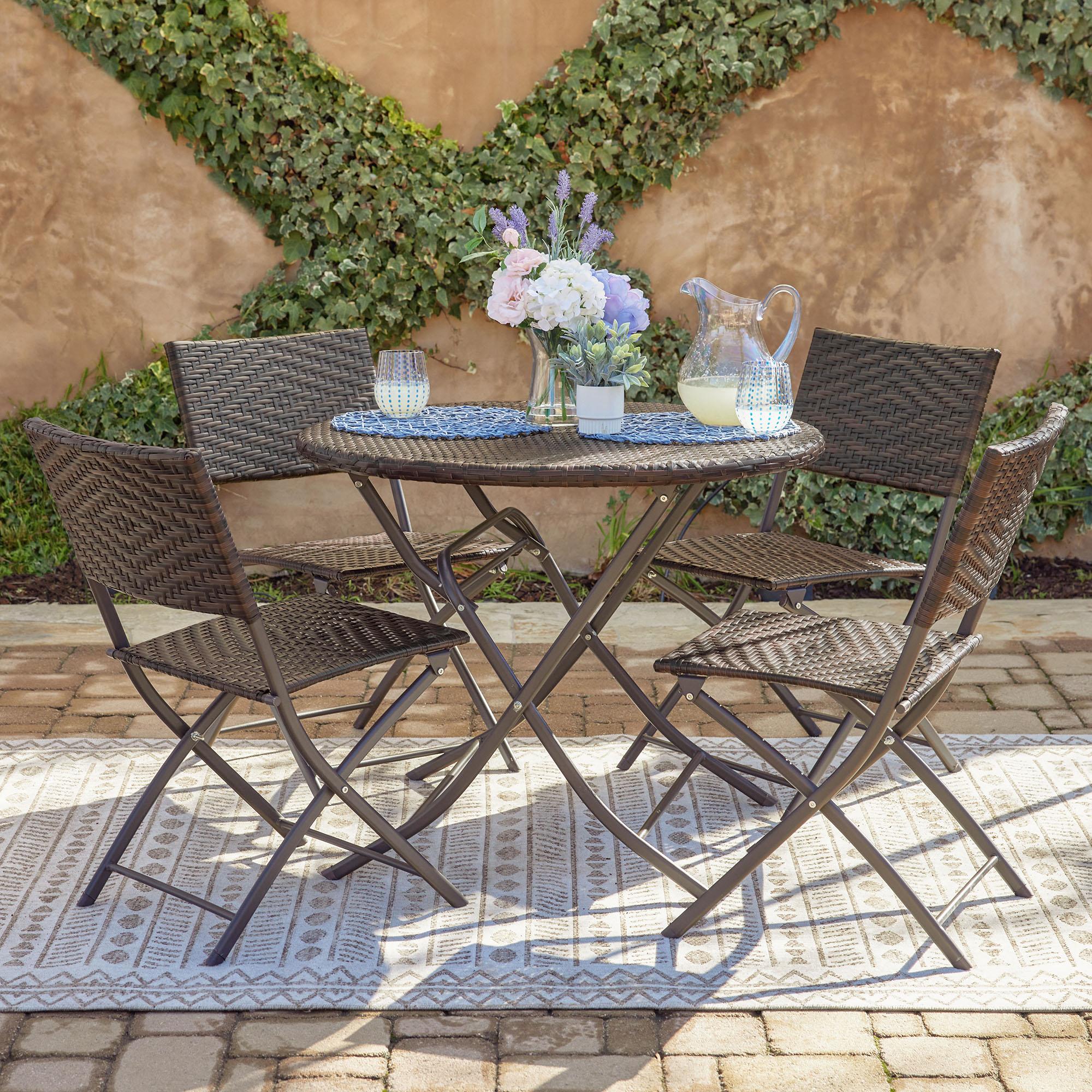 Belleze Bistro Wicker Outdoor Furniture Seating Set