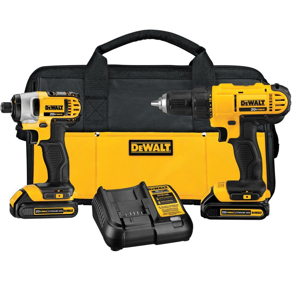 DEWALT DCK240C2 20-Volt MAX Cordless Drill/Impact Combo Kit