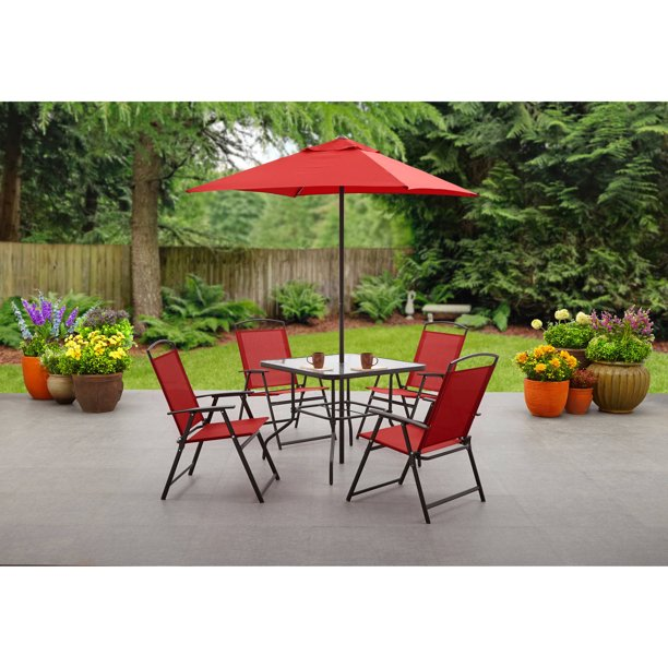 Mainstays Albany Lane 6 Piece Outdoor Patio Dining Set