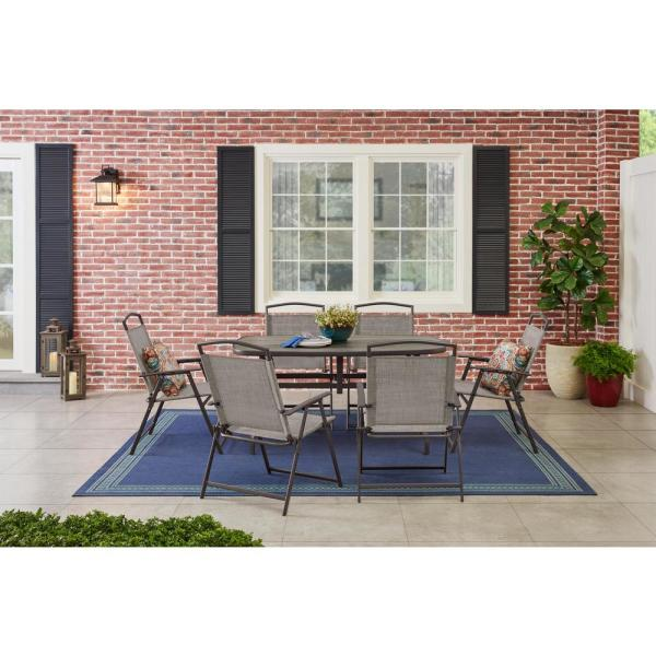 StyleWell Mix and Match 7-Piece Metal Sling Folding Outdoor Dining Set