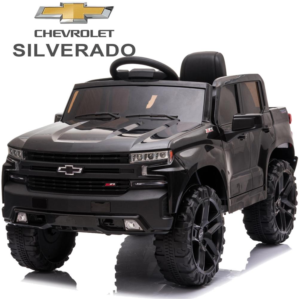 Chevrolet Silverado 12V Ride-On Truck (Black)