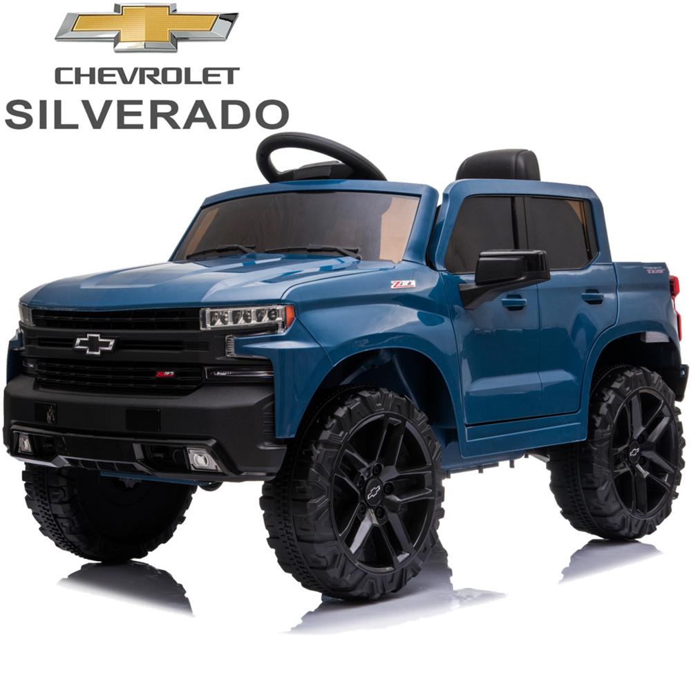 Chevrolet Silverado 12V Ride-On Truck (Blue)
