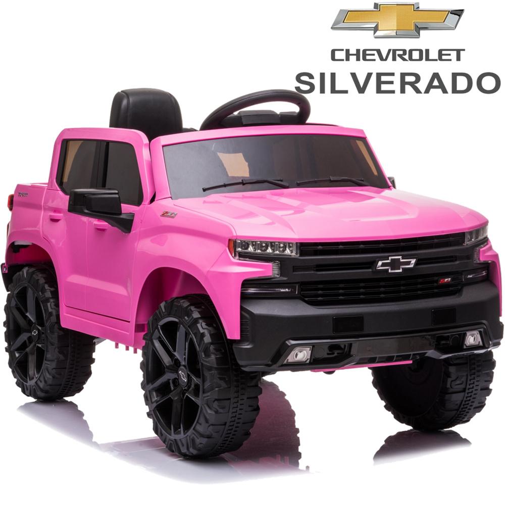 Chevrolet Silverado 12V Ride-On Truck (Pink)
