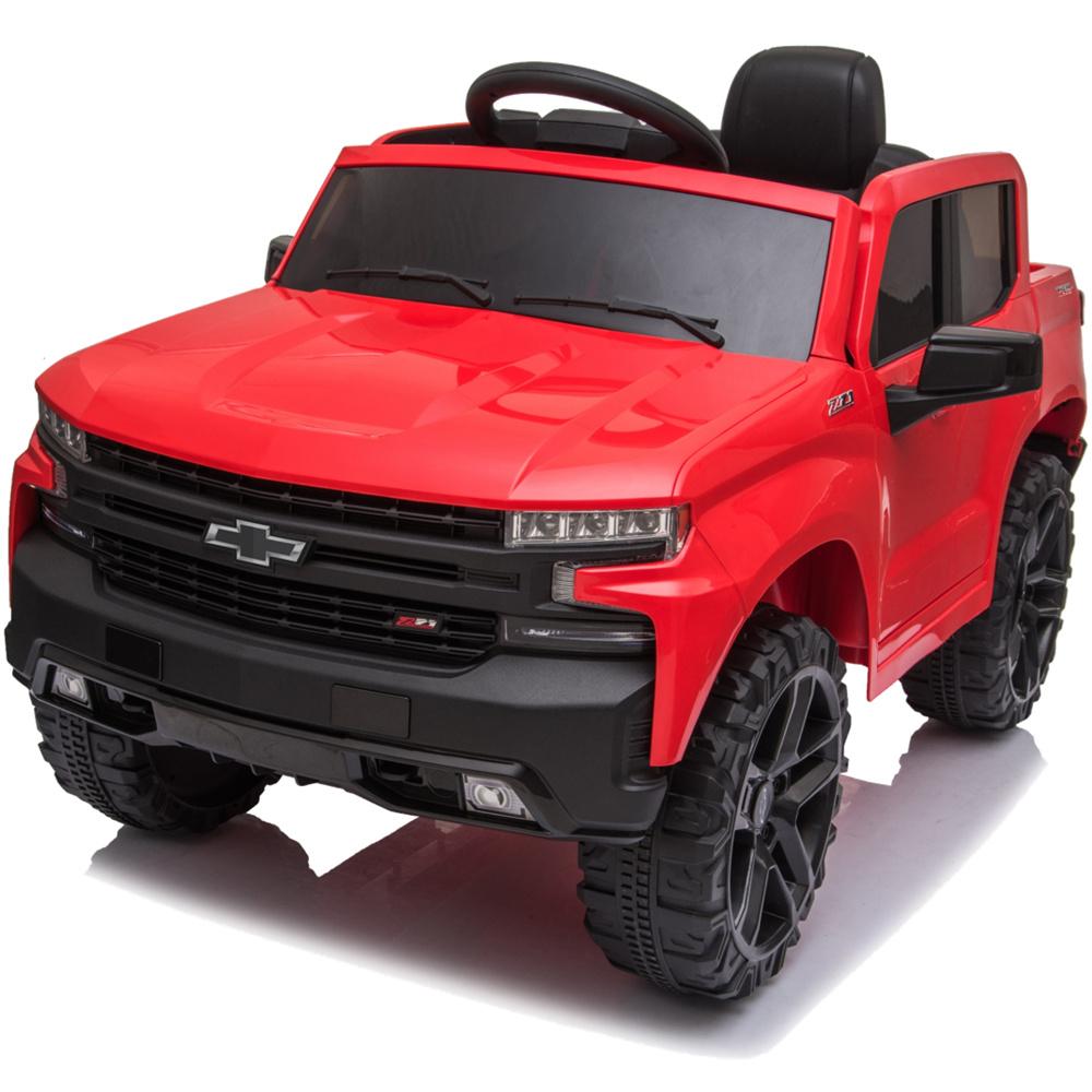 Chevrolet Silverado 12V Ride-On Truck (Red)
